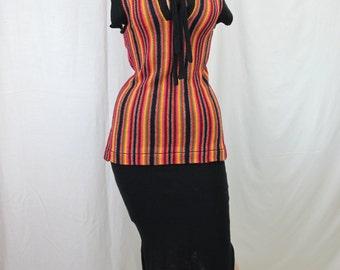 1970s Stripe Knit La Squadra Top and Skirt