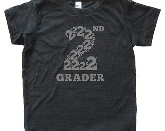 2nd Grader - Back To School / First Day of School Tshirt for Second Grade - Top - Youth Boy / Girl Shirt / Super Soft Kids Tee Triblend