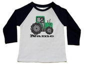 2nd Birthday Shirt -Tractor Theme Birthday Party - Personalized Tractor Number 2 Shirt (use any number) - Farm Party - Vintage Feel Graphic