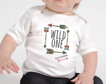 Babies 1st Birthday - Wild One Birthday Shirt or Infant Bodysuit - Boho First Birthday for Boys or Girls - You can use any number - Wild One