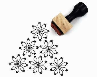 Rubber Stamp Geo Flower Pattern - Pattern Maker Stamp by Creatiate