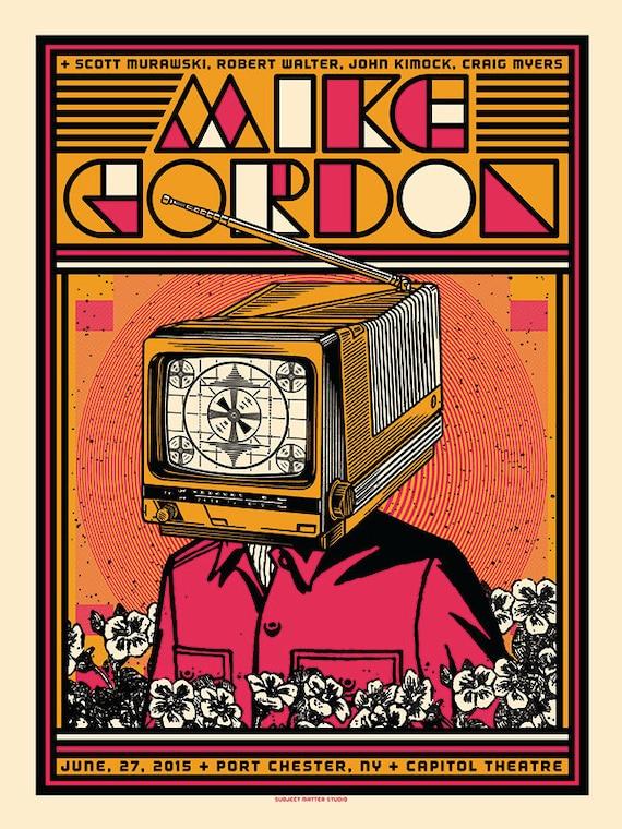 mike gordon concert poster capitol theatre port chester ny. Black Bedroom Furniture Sets. Home Design Ideas