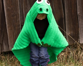 Dinosaur Crochet Blanket MADE TO ORDER, Hooded Dinosaur Blanket, Dino Throw, Apatosaurus,  Toddler, Child, Adult Blankets, Friendly