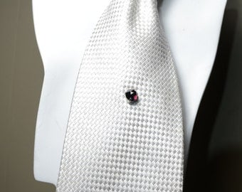 Natural rose cut garnet tie tack