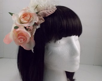 Pink and Ivory Hair Accessory