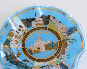 Vintage Disneyland Souvenir Ashtray or Candy Dish with Beautiful Illustrations