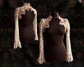 Lace shrug romantic Steampunk sleeves, Maeror, Somnia Romantica, size small - medium see item details for measurements