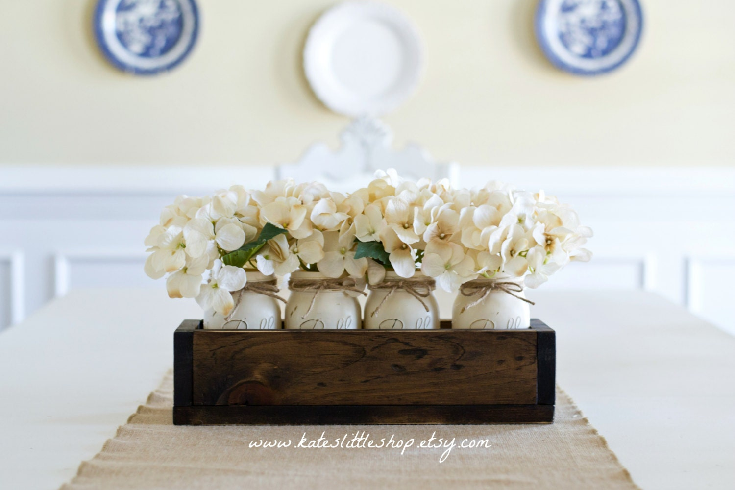 Spring summer mothers day rustic home decor planter box - Table centerpieces for home ...