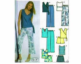 Easy To Sew Misses Pants Shorts and tops OOP Uncut Simplicity 5067 Sizes 14 16 18 20 22 Bust 36 38 40 42 44 Sewing Pattern travel wardrobe