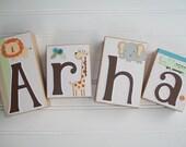 Name Blocks . Neutral Nursery . Gender Neutral Nursery . Animal Name Blocks . Baby Letter Blocks . Wood Name Blocks