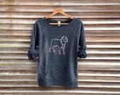 all bark and no bite Rottweiler Sweatshirt, Dog Sweater, Big Dog Shirt, S,M,L,XL