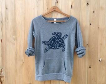 SALE Turtle Sweatshirt, Small