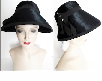 Vintage 1950s Hat//50s Hat//Casper Davis//California Model//Rhinestone Accents// Couture//Mad Man//Mod//New Look//Rockabilly
