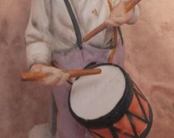 Vintage Enesco Old Man Playing Drum Grandfather Figurine