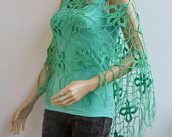 Teal crochet poncho, Crochet poncho, boho poncho, crochet wrap, bohemian poncho, Women poncho, bridal poncho, bridal accessories bridal cape