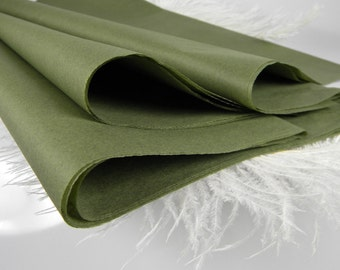 Olive Green Moss Tissue Paper | 24 Sheets | Tissue Sheets Packaging | DIY Pom Pom Supplies | Papercrafting Supplies | Wedding Supplies