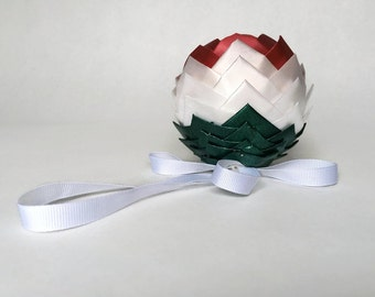 Mexico Flag Ribbon Ornament