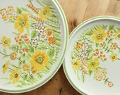 Premiere Colorama Summer Greens Dinner + Salad Plates 4