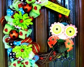 Summer Lady Bug Love Bug Wreath (ready to ship!)