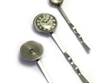 Upcycled Reclaimed Watch Parts Steampunk Hair Pins, steampunk bobby pins, steampunk hair accessory, handmade bobby pins, unique, watch gears