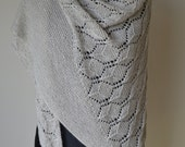 Lace and Garter Stitch Shawl Knitting Pattern pdf