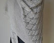 Lace and Garter Stitch Shawl Knitting Pattern pdf