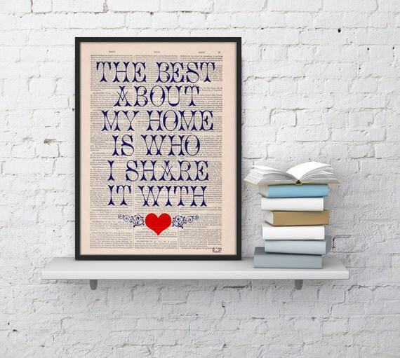 Typography Inspirational Quote Poster Print,Home wall art, wall art, typographic print, wall decor, giclee print  TYQ028