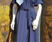 40s navy dress