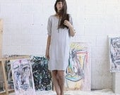 Sale 70 Off Embroidered Dress, Silver Midi Dress, Casual Dress
