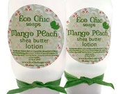 Mango Peach Shea Butter Hand & Body Lotion - Handmade Natural Lotion with Jojoba Oil and Argan Oil  - 4 oz