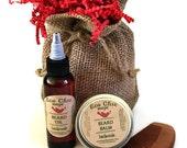 Men's Beard Care Kit - Choose your SCENT - Handmade Beard Oil - Beard Balm - SANDALWOOD  Beard Comb - Beard Care Kit - Gift for Him