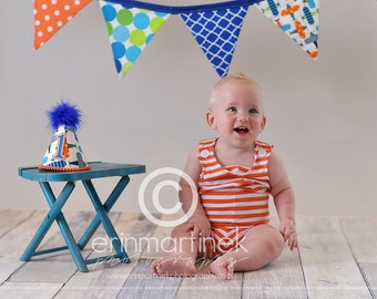 Boys First Birthday Party Outfit Or Cake Smash Set in Air Planes
