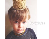 READY to SHIP|| New || Jaden mini || unisex || vintage gold lace crown || headband option || photography prop ||newborn-toddler