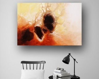 Abstract Painting, Large Original Painting on Canvas, Cream & Brown, Professional Painting, Wall Art, Unique Fluid Art, 36x24 Heather Day