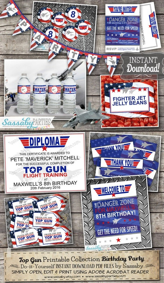 Top gun party collection instant download birthday party il570xn filmwisefo Choice Image