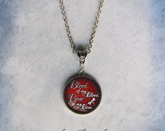 Red Blood and Bone Pendant