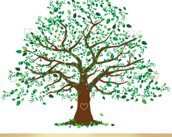 Clipart Natural Tree Large Family Tree Graphic Commercial