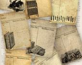 Grunge Library ATC images printable paper craft paper crafting scrapbooking digital download instant download collage sheet - VDATGR1240