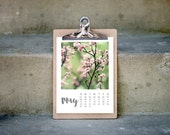 2016 calendar floral photography desk calendar wall calendar clipboard A5 small calendar