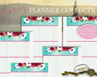 PLANNER | A5 Filofax | 5.8 x 8.3 | Journey Collection by Papier Creatif