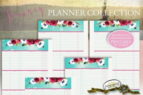 PLANNER | A5 Filofax | 5.8 x 8.3 | Journey Collection by Papier Creatif