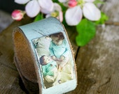 Personalized Leather Photo Bracelet // Custom Jewelry // Stocking Stuffer // gifts for her // photo gift // gifts for mom