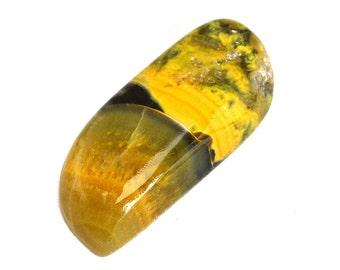 Bumble Bee Jasper Cabochon Stone (40mm x 17mm x 8mm) - Free Cabochon - Bumble Bee Cabochon