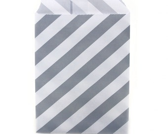 20 Gray Treat Bags | Gray Favor Bags | Goodie Bags | Popcorn Bags | Wedding Bags | Candy Bags