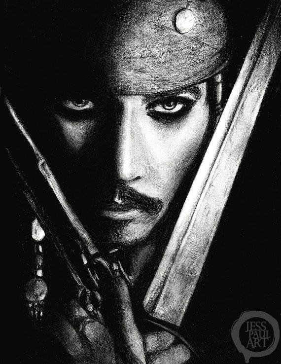 Captain Jack Sparrow ART POSTER Pirates of the Caribbean