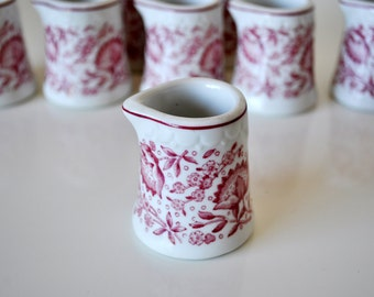 Individual Creamers Roxbury Red Set of 8