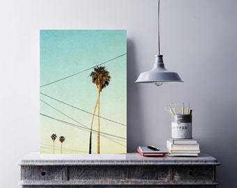 photography, santa cruz photography, palm tree photography, romantic art print, summer photography - California Love, art print or canvas