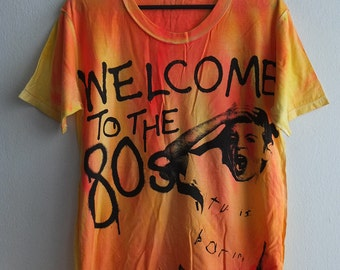 80's Welcome New Wave Retro Art Pop Icon T-Shirt L