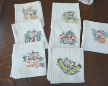 7 Day Veggie Tea Towels Dish Cloths