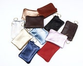 Leather Coin Purse. Leather Change Purse. Coin Purse. Small Leather Pouch. Key Chain Pouch